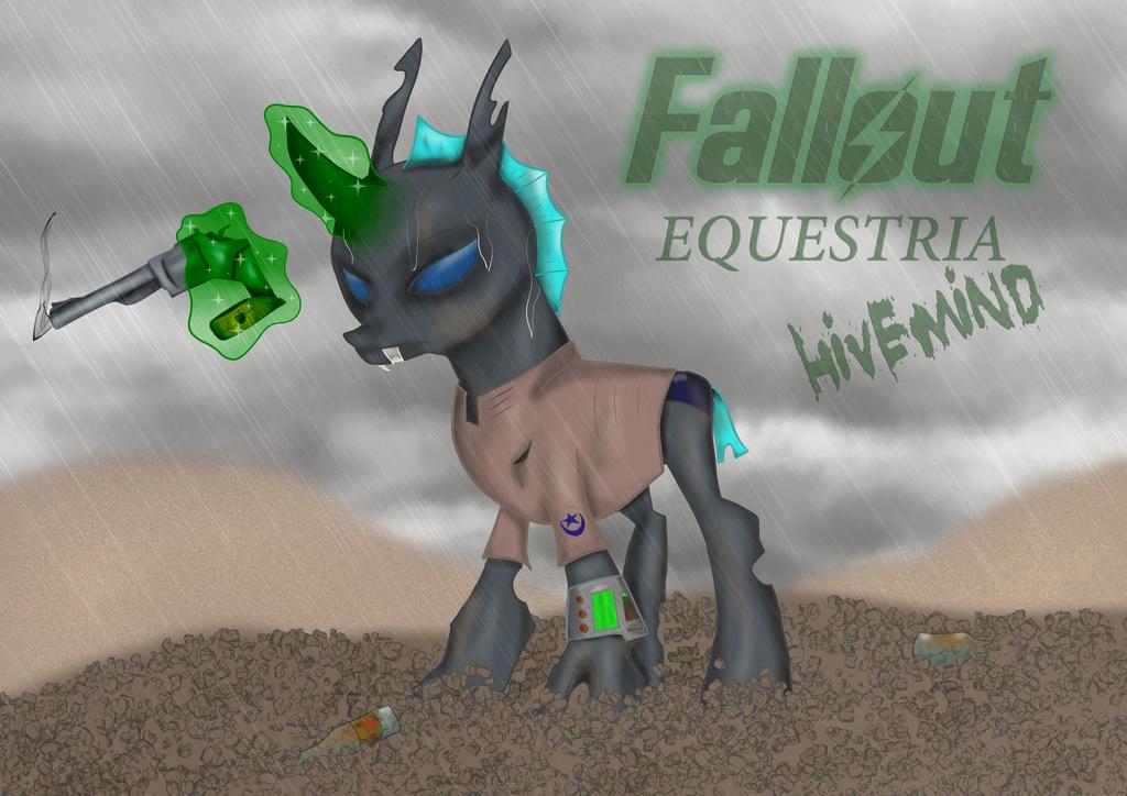 Fallout: Equestria, Hivemind. Hero Redux W Gun by AnubicDarque