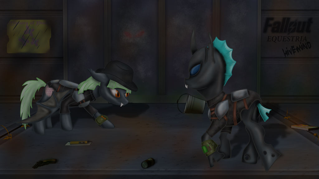 Fallout Equestria, Hivemind chapter 12 Down the ho by AnubicDarque