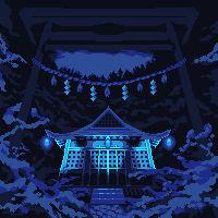 Torii To The Blue Light Shrine