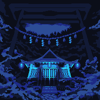 Torii To The Blue Light Shrine by Lakelezz