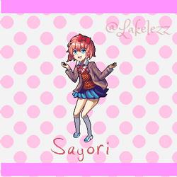 Sayori from Doki Doki Literature Club! by Lakelezz