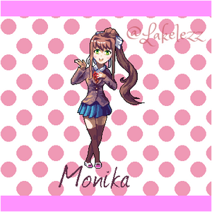 Monika from Doki Doki Literature Club!
