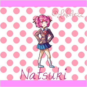 Natsuki from Doki Doki Literature Club!