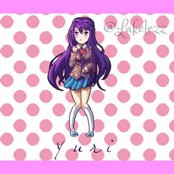 Yuri from Doki Doki Literature Club! by Lakelezz