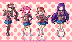 All Girls from Doki Doki Literature Club!