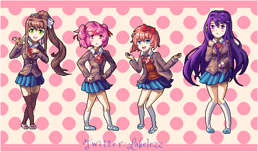 All Girls from Doki Doki Literature Club!