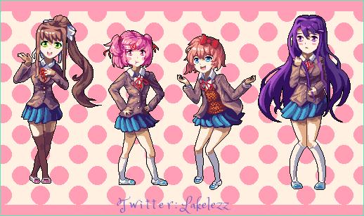 All Girls from Doki Doki Literature Club! by Lakelezz