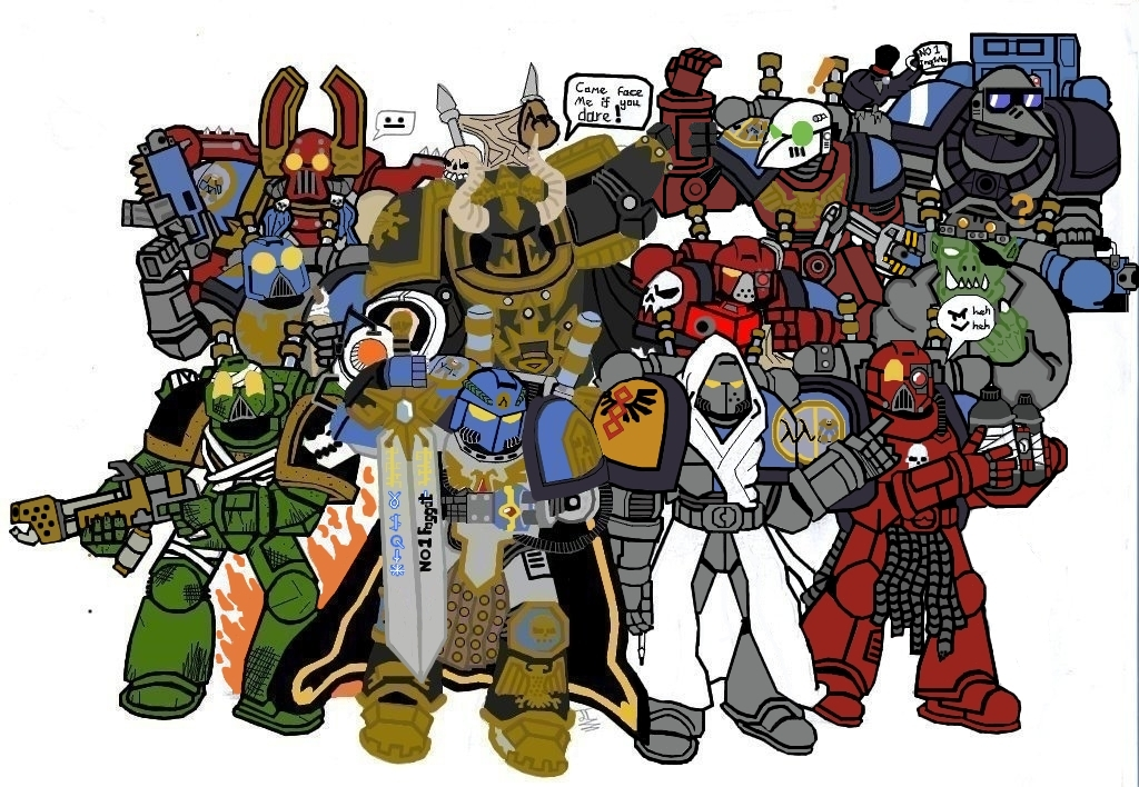 Commission   Alfa Legion 12th Company by Darkminster