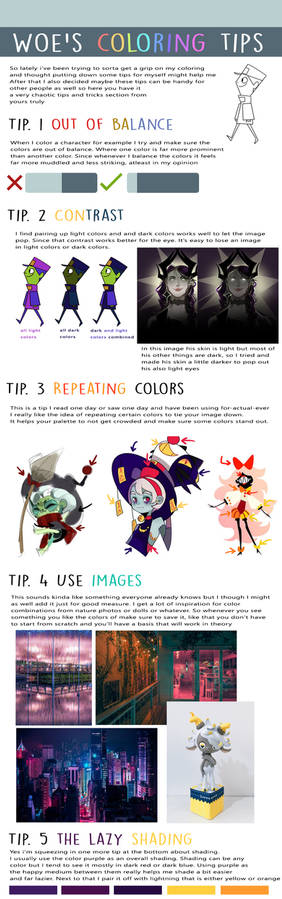 Woe's coloring tips