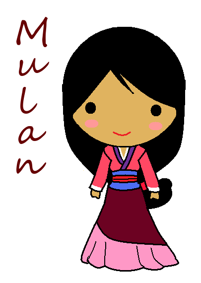 how to draw mulan cute