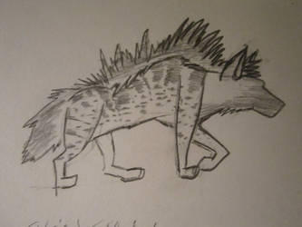 Spotted Striped Hyena Hybrid Concept by CaribouxSkull