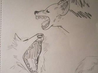 Hyena Wolf studies by CaribouxSkull