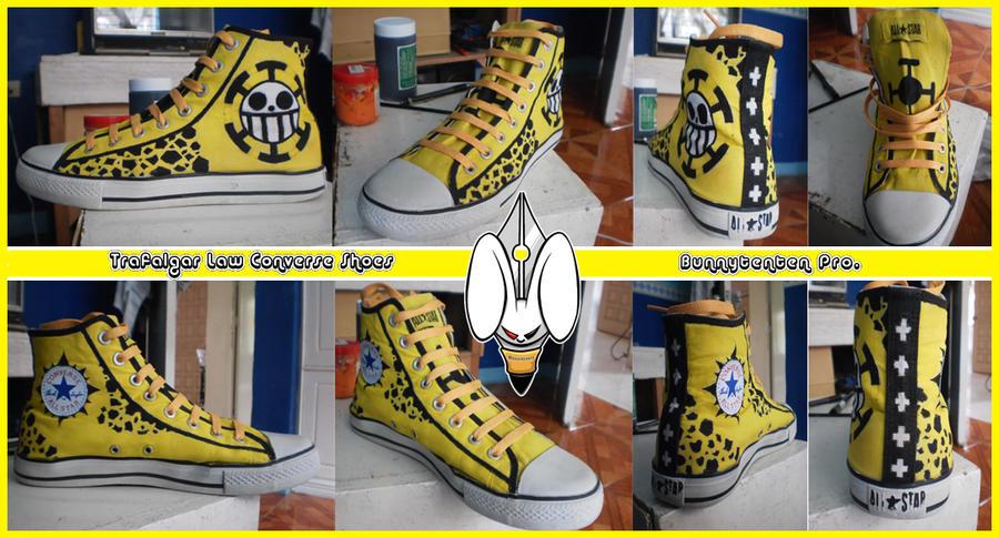 Trafalgar law Converse shoes design by Elison182