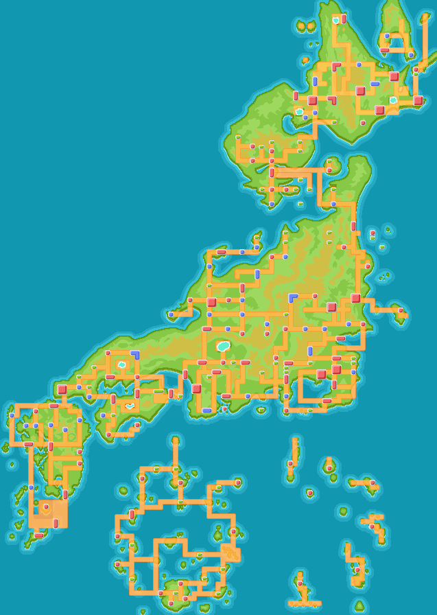 Pokemon world by xshadowxforcex on deviantart pokemon world map by xshadowxforcex gumiabroncs Images