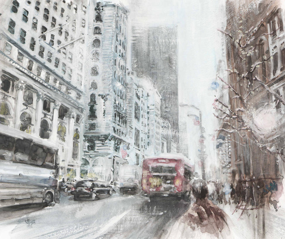 Gouache Cityscape by shinkusuarez88