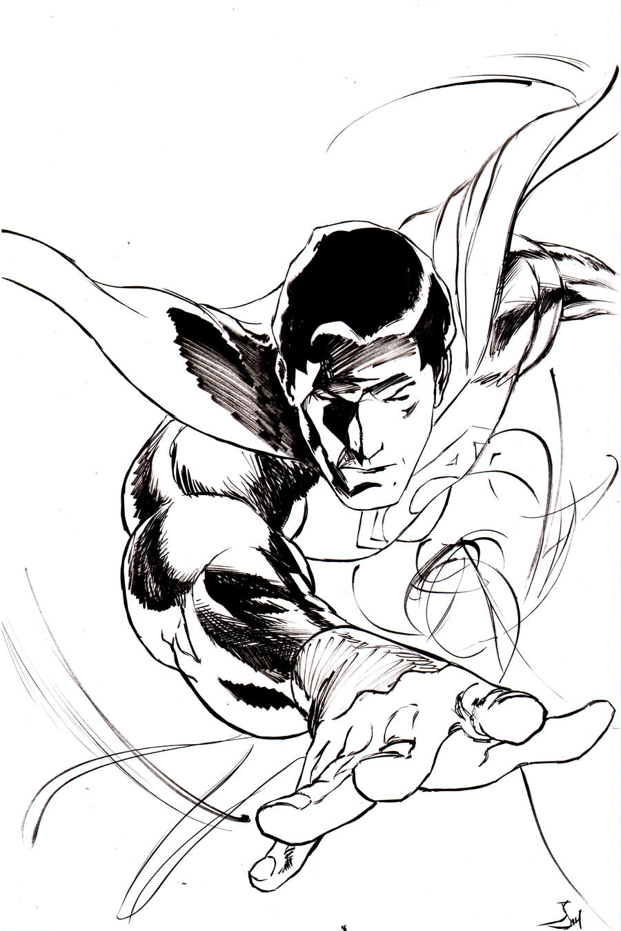 Superman Sketch Cover