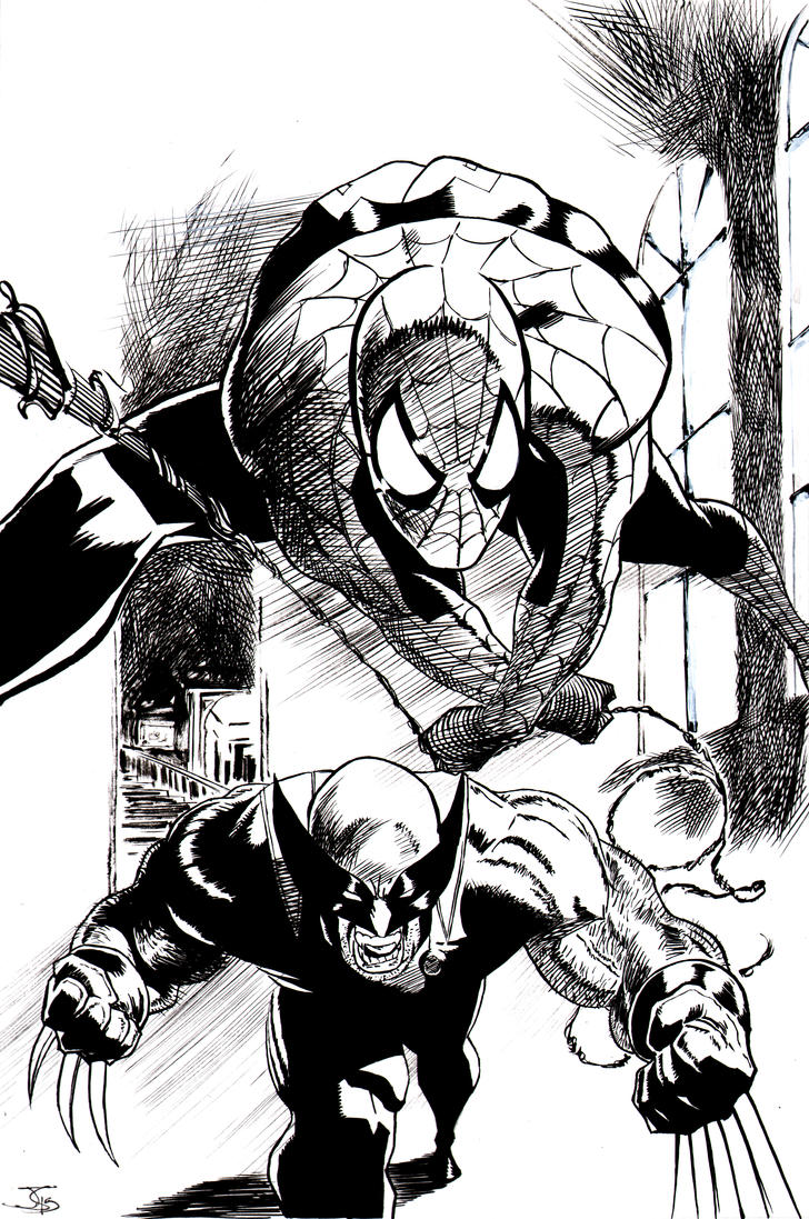 Spidey And Wolvie Teamup by shinkusuarez88