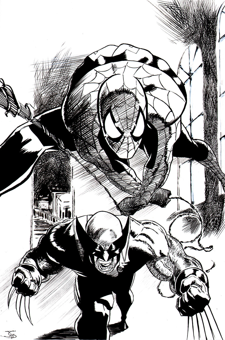 Spidey And Wolvie Teamup