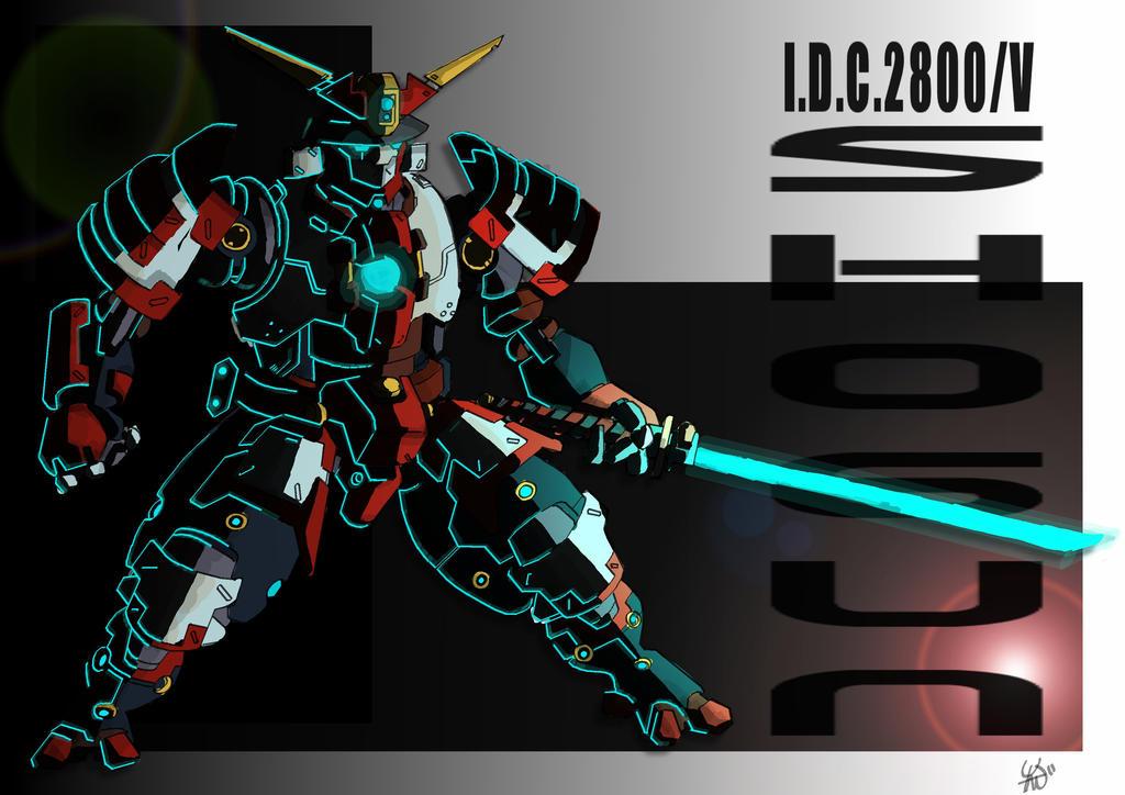 Robot Shogun (robogun?) by yanharrison