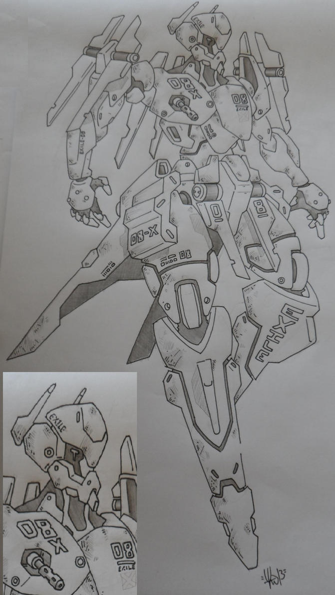 Mecha Design Exile 08x by yanharrison