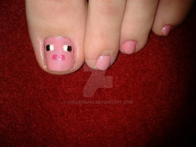 Minecraft Toes by GoldenDani