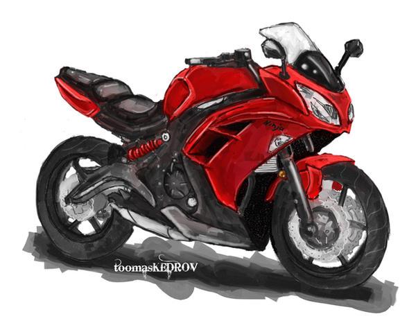 Kawasaki Ninja Red By ToomasKedrov