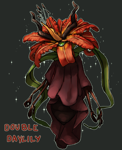 Double Daylily flower witch - DTA (open) by Malusdraco