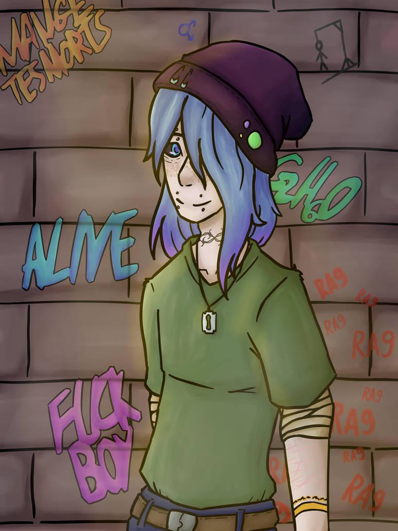 Neki emo boy ~ by MagisterNeki