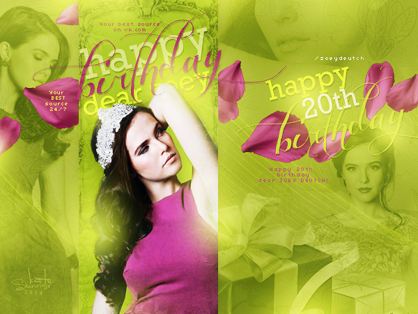 Happy Birthday Zoey Deutch  (avatar) by KATTYsunrise