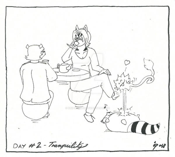 Inktober 2018 Day #2 - Tranquility by KnipStudios