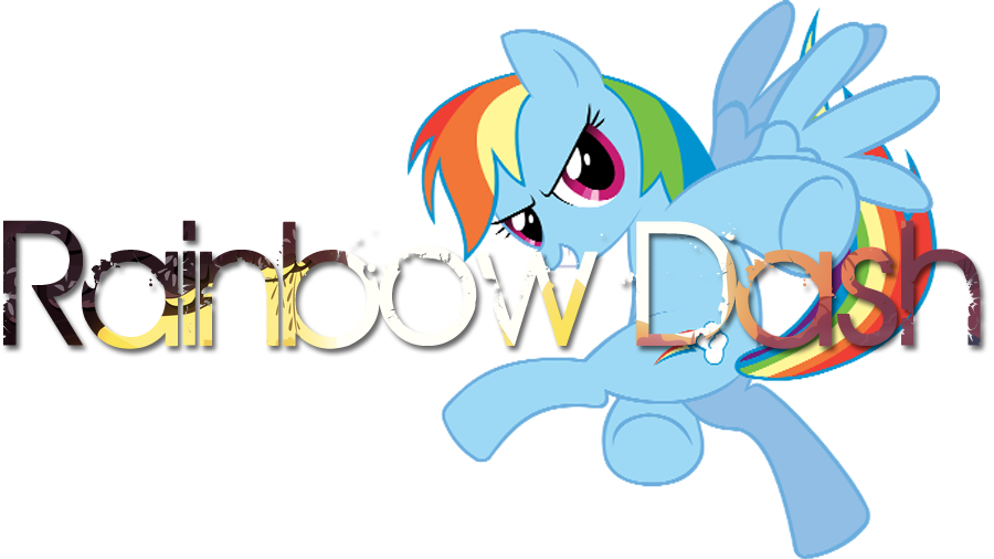 Pony Behind The Name Rainbow Dash By Names Tailz On Deviantart