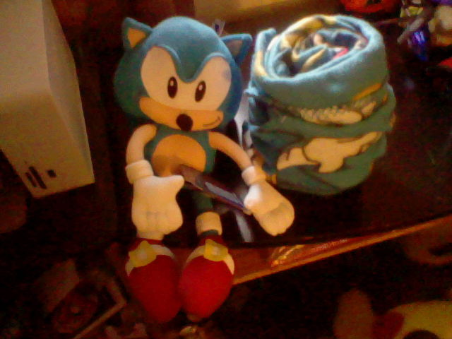 Sonic plush and throw by Names-Tailz