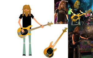 Guitar Hero Bassist by FacelessRebel