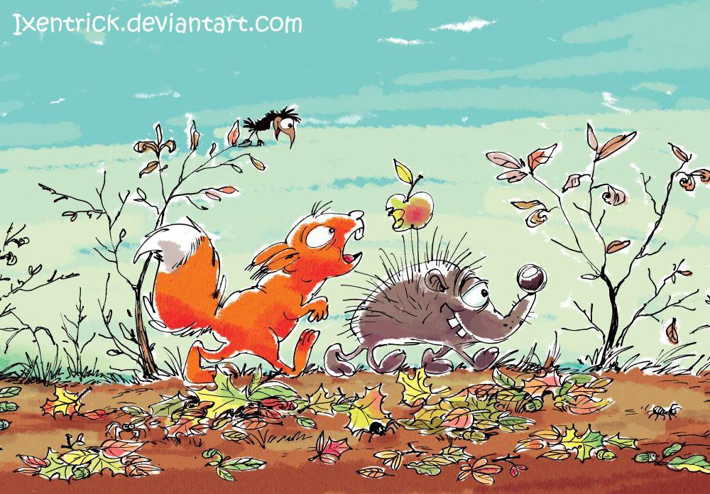 Squirrel and Hedgehog