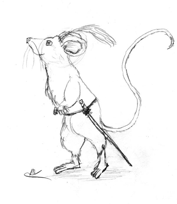 A Brave Mouse by ChibiFred on DeviantArt
