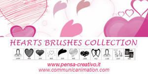Valentine's Day Photoshop Brushes - Hearts by CommunicAnimation