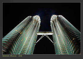 Petronas at Night by PhiloGraphic