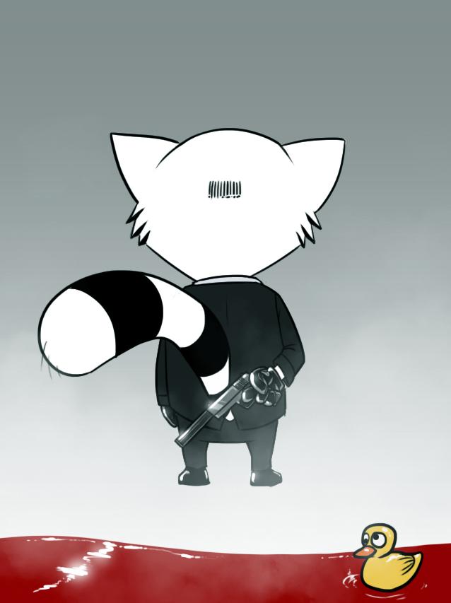 Hitman Raccoon by DevilHS