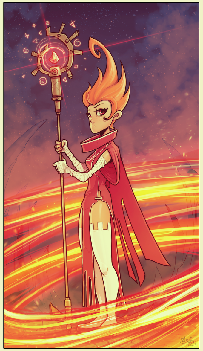 Fire Mage by devilhs