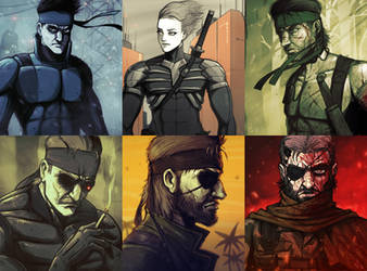 Metal Gear Solid legacy by devilhs