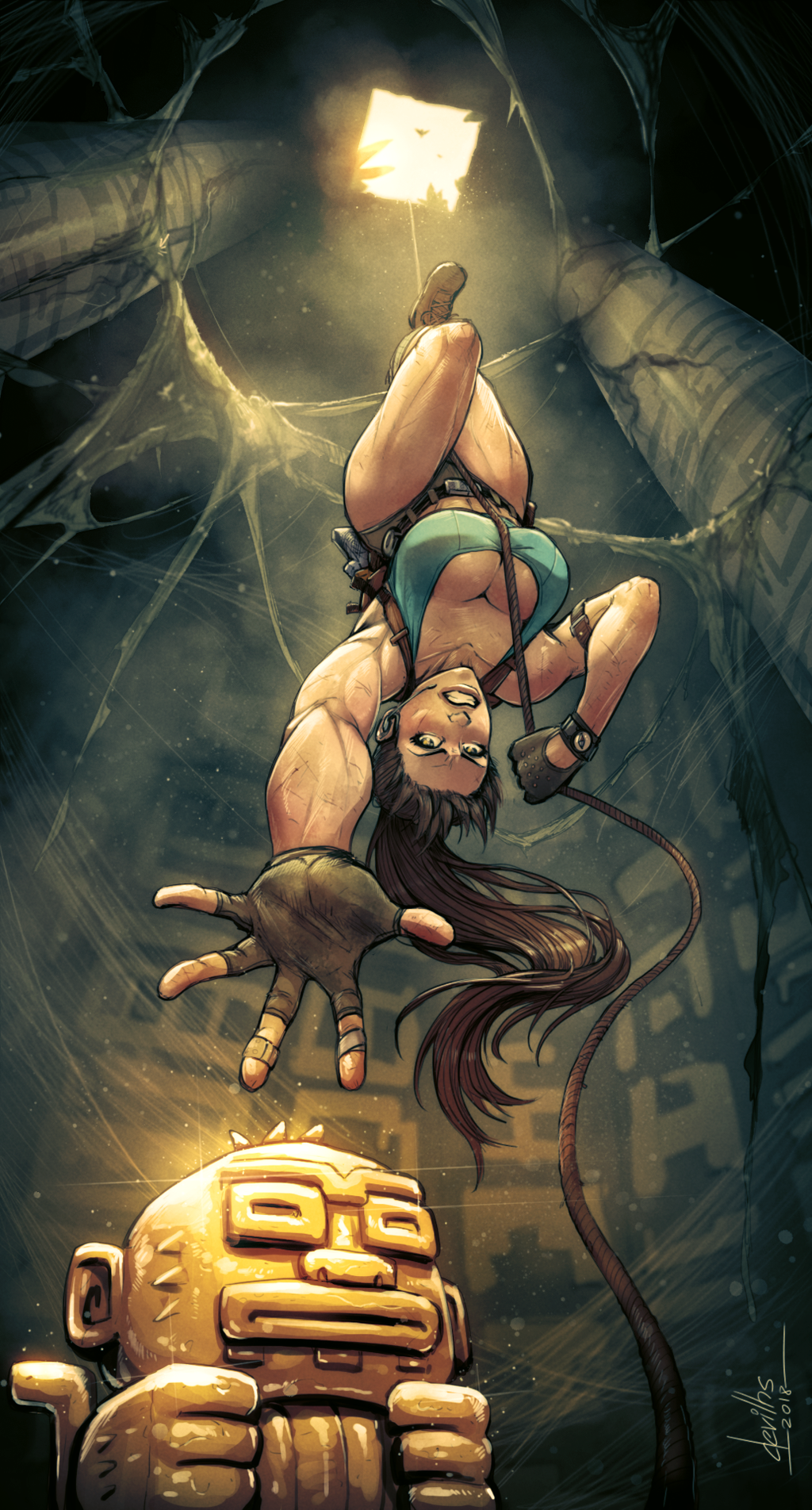 Lara Croft and the Riddle of the Golden Monkey by devilhs