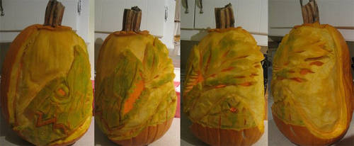 Smaug Pumpkin by Pzulbox