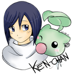 Ken-chan and Leafmon