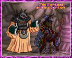 The Skeksis Emperor and his General by GearGades