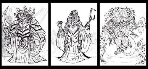 Dark Crystal Rough sketches by GearGades