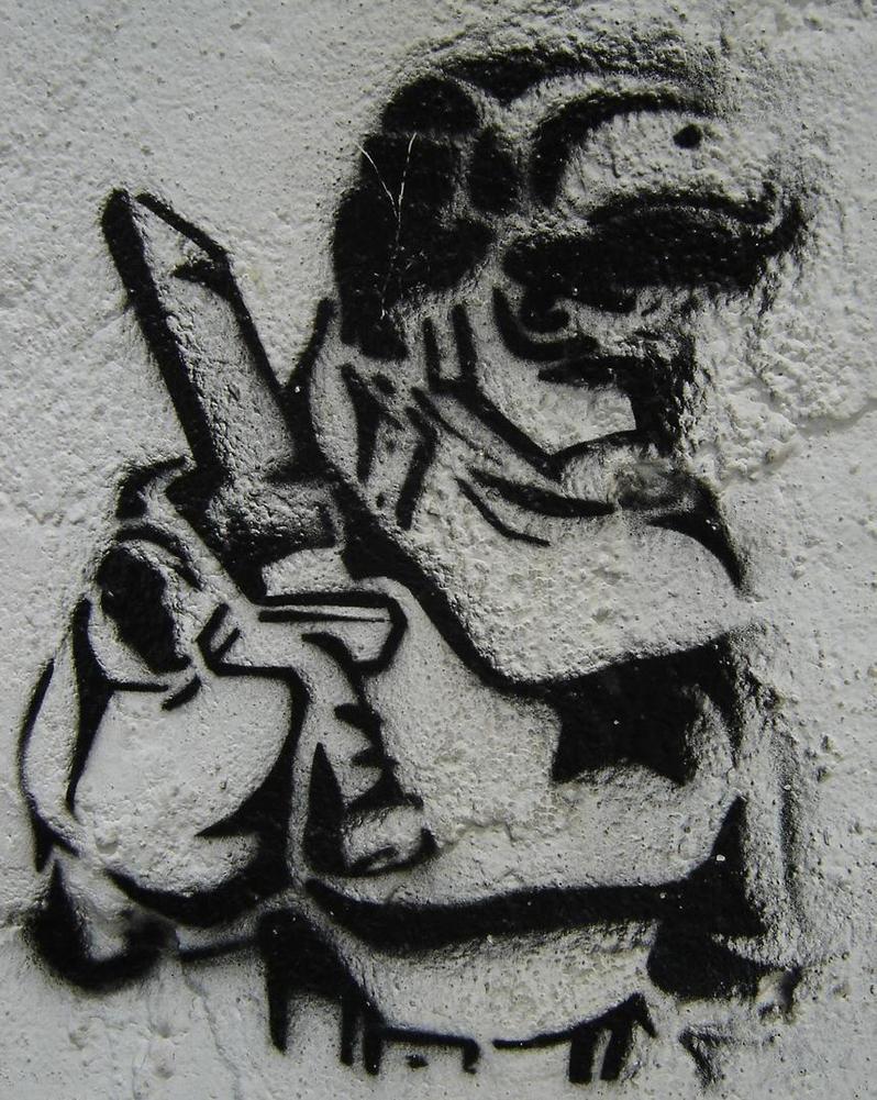 Bad ass graffiti. by Andy36