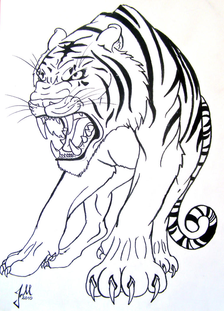 Black and white tiger by RainbowChickenSoup on DeviantArt
