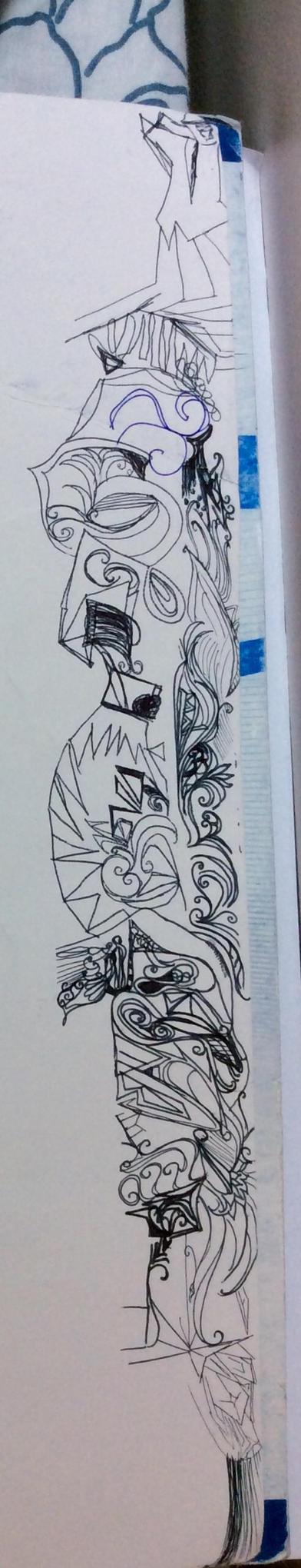 Side Doodles (1) by RaneRane