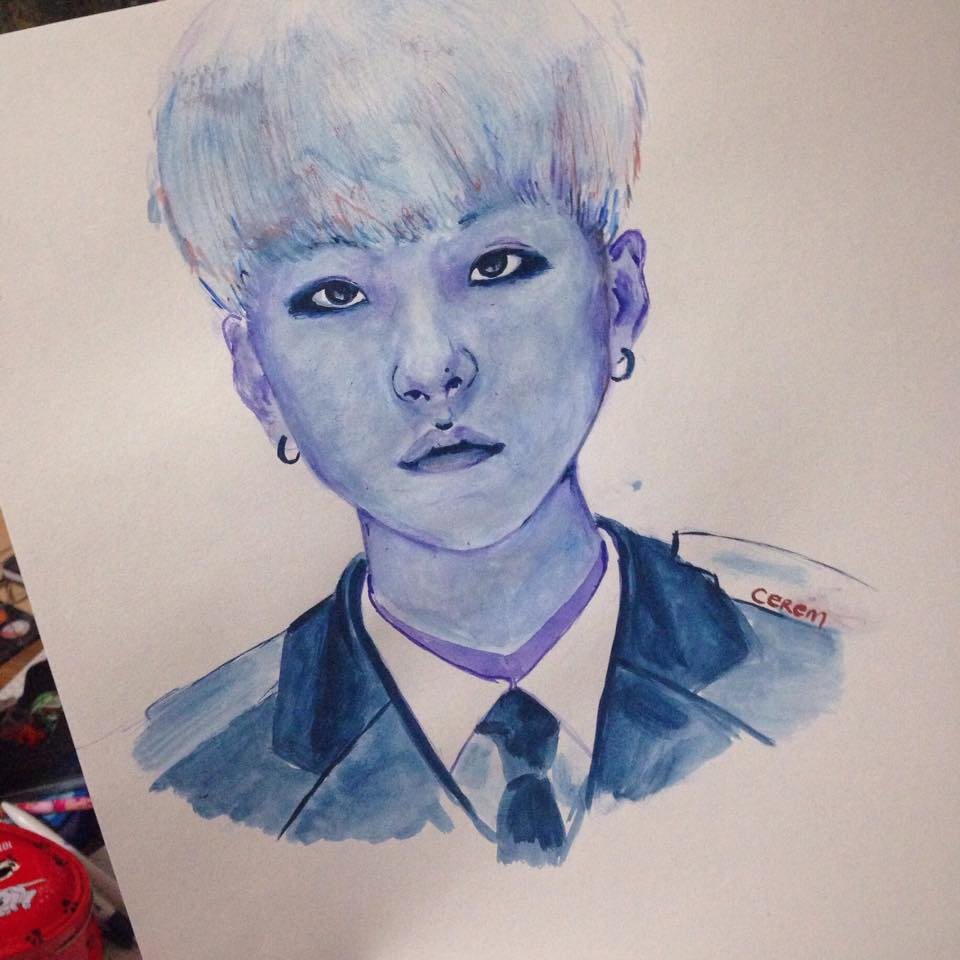 how to draw suga bts