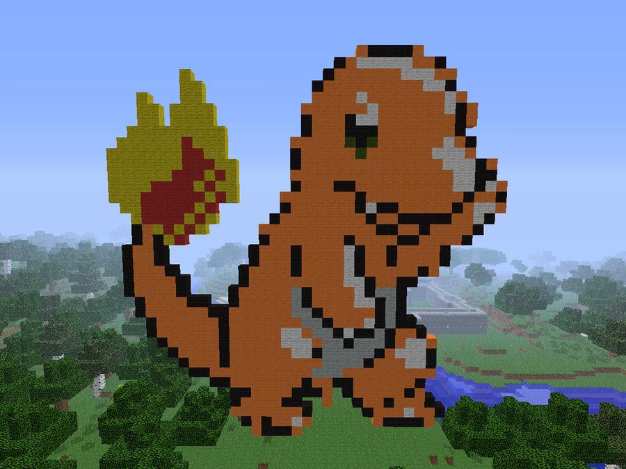 Minecraft Charmander Pixel Art By Megaboygx On Deviantart